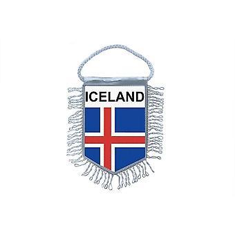 Bandera Mini Bandera País Decoración de coches Islandia Islandia