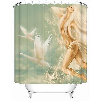 Goddelijke Aqua Lady douche gordijn