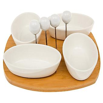 White Bamboo 4 Pcs Olive Set