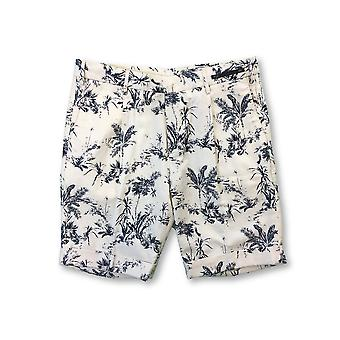 Pantaloni Torino PT01 chino shorts in beige/navy floral