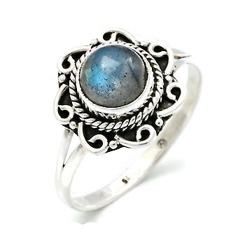 Ring Zilver 925 Sterling Zilveren Labradorite Steen (Nr: MRI 121)