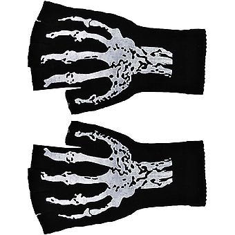 Handschoenen kort vingerloze W Skel