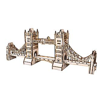 Crafts - london bridge - model kit raw wood 12x7x30in