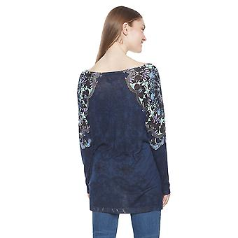 Desigual Women-apos;s Munich Long Back Mandala Jumper Sweater