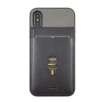 iPhone Xs Case Westminster Flip Pocket Hard Shell Black/Grey