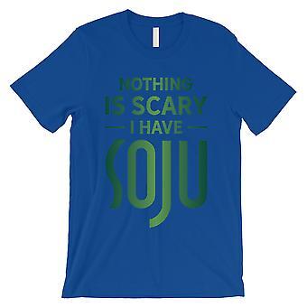 Inget skrämmande Soju mens Royal blå hälsosam stor T-shirt gag gåva