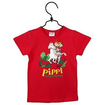 Pippi Longstocking Gallop T-shirt rood