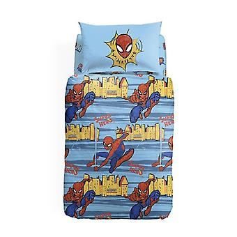 Complete Single Bed Cover Spiderman New York Caleffi
