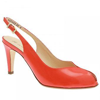 Peter Kaiser Sandrie Orange Patent Sling Back Sandal
