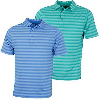 Bobby Jones Mens XH20 Mixed Tone Stripe Jersey Golf Polo Shirt