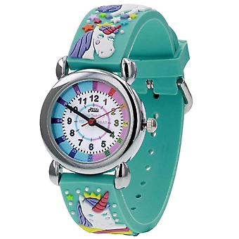 Relda Time Teacher 3D Unicorn Silicone Strap Watch + Telling The Time Award