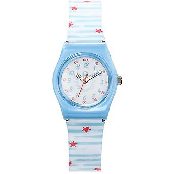 Watch Lulu Castanet 38838 - Silicone blue and white girl