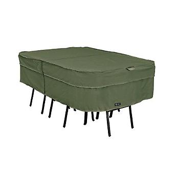 Montlake Fadesafe Heavy Duty Rectangular/Oval Patio Table & Chair Set Cover, Heather Fern, X-Large