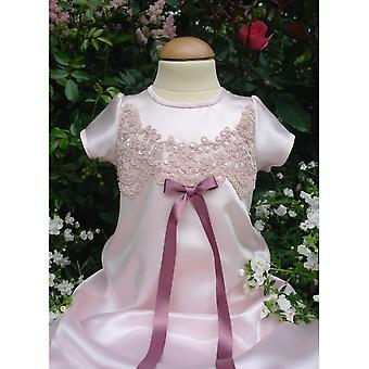 Dopklänning Grace Of Sweden -  Grace-julia I Rosa Satin