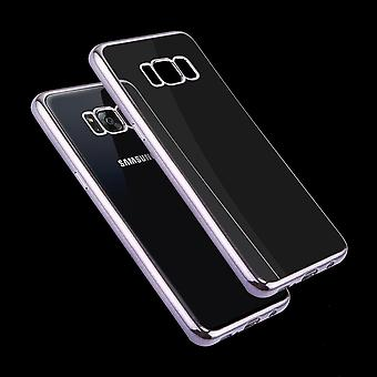 Voor Samsung Galaxy S8 PLUS Case, Transparante Electroplating Protective Cover, Grijs
