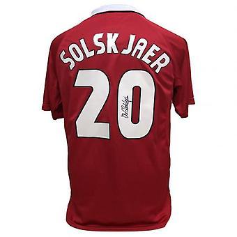Manchester United Solskjaer gesigneerd shirt