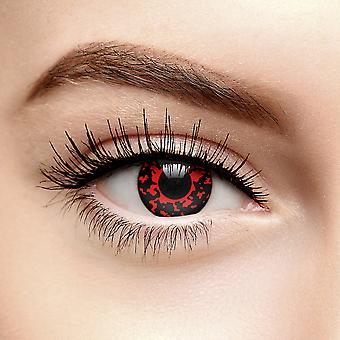 Red Lava Eye Colored Contact Lenses (90 Day)
