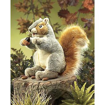 Hand Puppet - Folkmanis - Squirrel Gray New Animals Soft Doll Plush Toys 2553