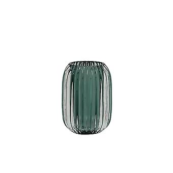 Light & Living Tealight 9.5x13cm - Pertu Clear Glass And Dark Green