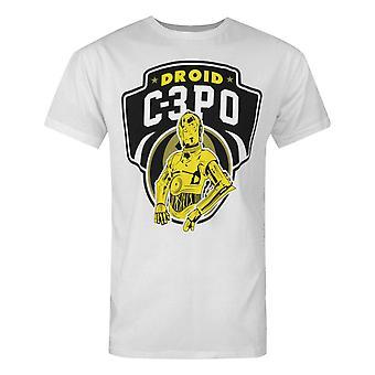 Star Wars C-3PO Droids Męski&s Biały T-Shirt