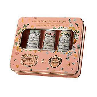 Panier des Sens Hand Care Box Metal Gift Box Fleur D' Orange Jasmine Rose Geranium 90 ml