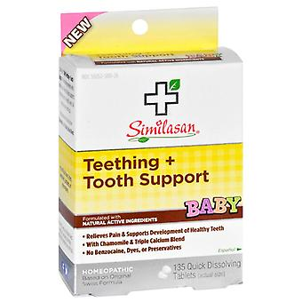 Similasan baby teething + tooth support, tablets, 135 ea