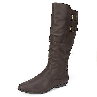 Cliffs by White Mountain Womens Fernanda Almond Toe Mid-Calf Fashion Boots