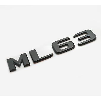 Matt Black ML63 Flat Mercedes Benz Car Model Rear Boot Number Letter Sticker Decal Badge Emblem For M Class W163 W164 W166 AMG
