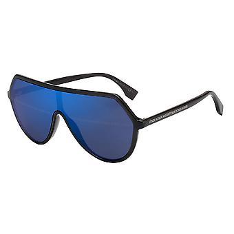 Fendi FF0377/S KB7/8N Grey/Blue Mirror Sunglasses