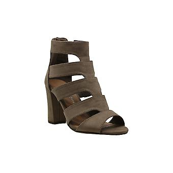 Madden Girl Bolt Caged Sandals - Dark Taupe