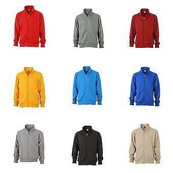 James and Nicholson Unisex Workwear Sweat Jacket