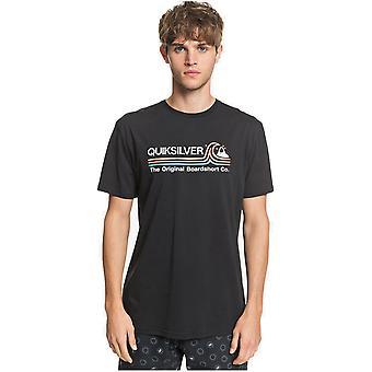 quiksilver stein kald klassisk kortermet t-skjorte i svart