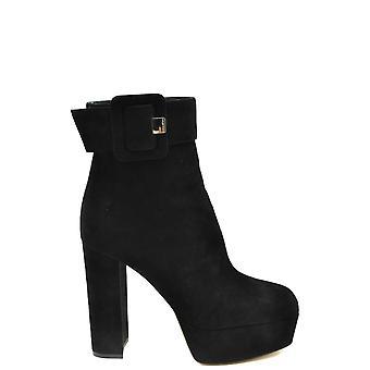 Sergio Rossi Ezbc040022 Women-apos;s Black Suede Ankle Boots