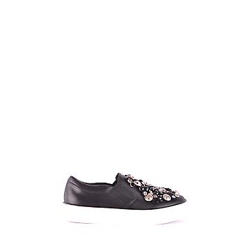 Way Brand Ezbc395001 Women's Black Leather Sneakers