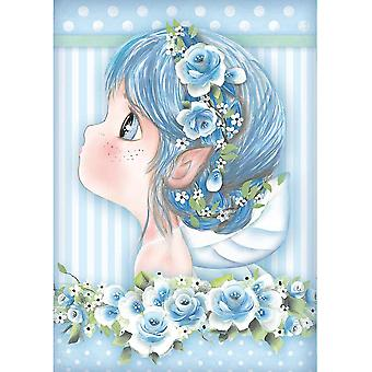 Stamperia Rice Paper Sheet A4-Light Blue Fairy