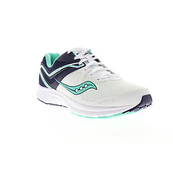 Saucony Grid Cohesion 11  Womens White Wide 2E Athletic Running Shoes