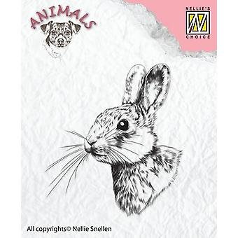 Nellie's Choice Clearstamp - rabbit-2 ANI015  50x55mm