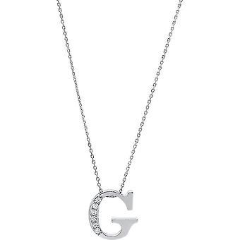 Diamantcollier  Collier - G - 14K 585/- Weissgold - 0.04 ct.