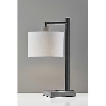Petite Black Metal Table Lamp