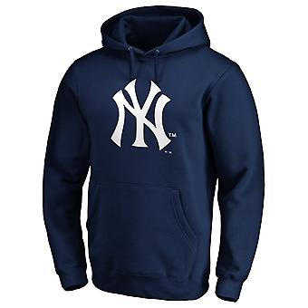 New York Yankees MLB Hoody Ikonisk Logo marinen