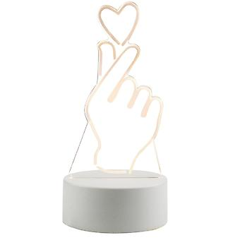 3D LED Lamp - Hand with Heart