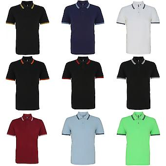 Asquith & Fox Mens Classic Fit Tipped Polo Shirt