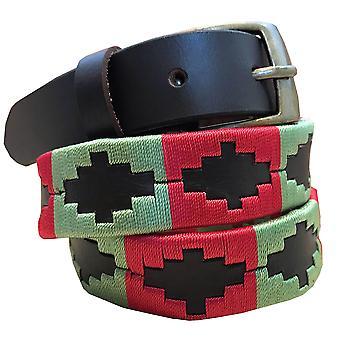 carlos diaz kids unisex  brown leather  polo belt cdkupb55