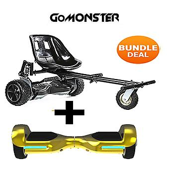 "6.5"" G PRO Gold Chrome Bluetooth Hoverboard & Monster Hoverkart in Schwarz"
