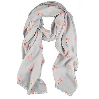 Wrendale Designs Scarf - Pink Lady in Wild Truffle colour