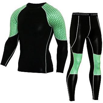 Allthemen Men&s Cienki garnitur sportowy z długim rękawem
