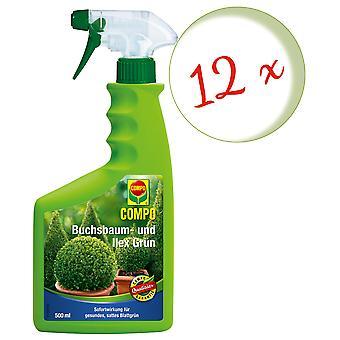 Sparset: 12 × COMPO بوككوود وElex الأخضر، 500 مل