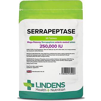 Lindens Serrapeptase 250,000iu Tabletki 30 (5996)