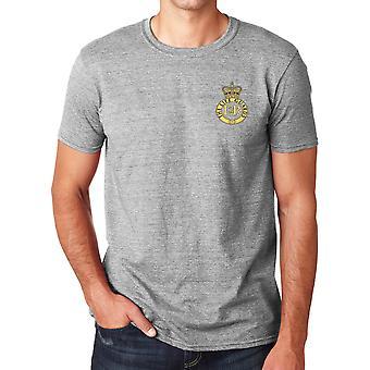 Os guardas de vida bordado logotipo - camisa de algodão Ringspun T oficial de exército britânico