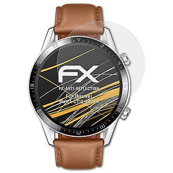 atFoliX 3x Schutzfolie kompatibel mit Huawei Watch GT 2 46 mm Folie klar&flexibel
